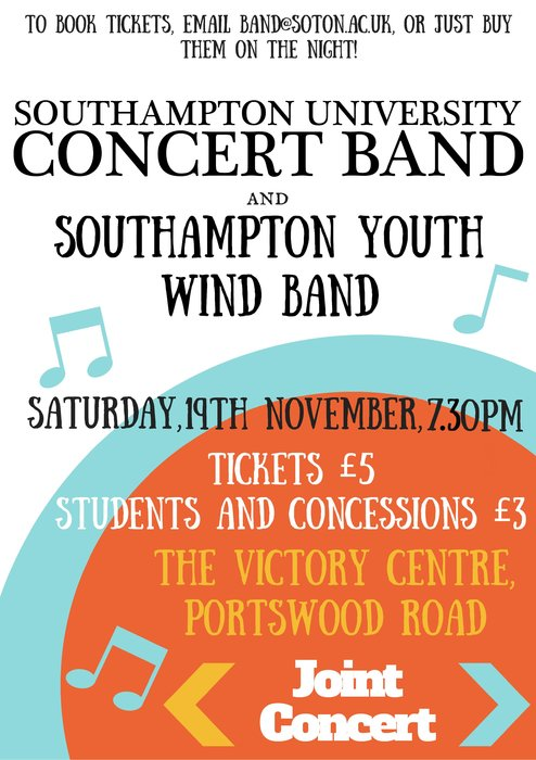 Southampton University Concert Band and Southampton Youth Wind Band Joint Concert